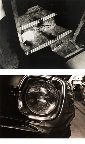 1 light and shadow 2 head light 2 works by daido moriyama