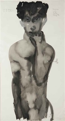 if its deep is it dark by marlene dumas