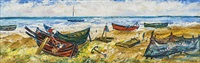 am strand, hiddensee by heinrich lietz