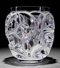 tourbillons clear crystal vase by rené lalique