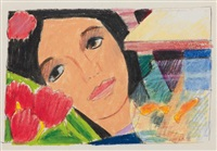 sketch for bedroom painting #43 by tom wesselmann