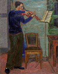 the violin player by panayiotis tetsis