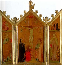 the crucifixion with the magdalen at the foot of the cross by giotto (ambrogio bondone)