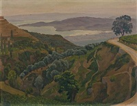sea view from a hill by dimitris yioldassis