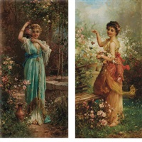 fluttering butterflies and return from the well : two by hans zatzka