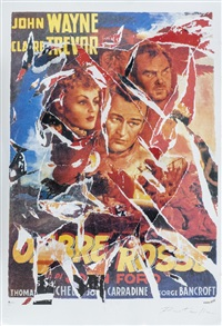ombre rosse by mimmo rotella