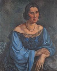 portrait de femme by andré favory