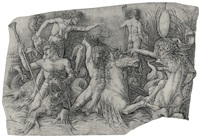 the battle of the sea gods: left half by andrea mantegna
