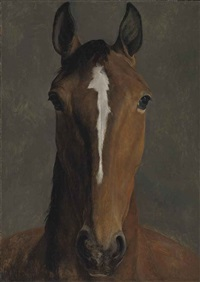 head of a bay horse by jacques-laurent agasse