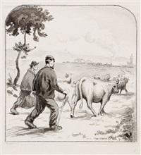 les philippe de jules renard (preparatory drawing; 37 works) by paul-emile colin