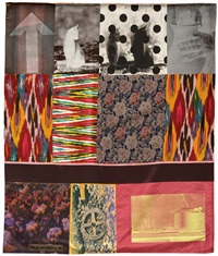samarkand stitches #v (from samarkand stitches series) by robert rauschenberg