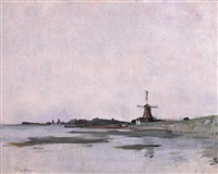 dutch landscape by john henry twachtman