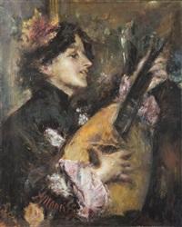 mandola innamorata by antonio mancini