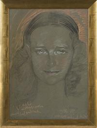 portrait of jadwiga sobolewska by stanislaw ignacy witkiewicz