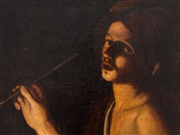 young man smoking by trophîme (theophisme) bigot the elder