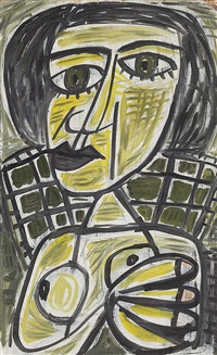 untitled (abstract nude) by john anthony (tony) tuckson
