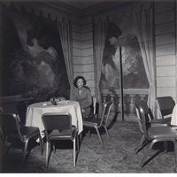 hungarian debutante ball, new york city; moses soyer studio, new york (2 works) by larry fink