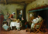 christmas morning in an english cottage by william macduff