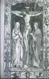 christus am kreuz, zwischen maria und johannes (winkler,  hans von kulmbach, kulmbach 1959, p. 42) by hans (suess von) kulmbach