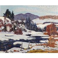 winter landscape, quebec by randolph stanley hewton