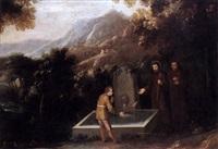 paisaje con san francisco y el milagro de los peces by ignacio de iriarte