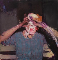 pie fight study by adrian ghenie