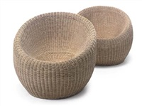 pair of lounge chairs by isamu kenmochi