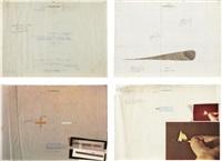 the illustration of art (study for the portfolio) (4 works) by antonio dias