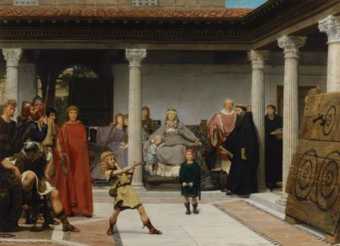 education of the children of clovis (school of vengeance, training of clotilde's sons) by sir lawrence alma-tadema