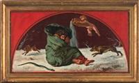 les quatre saisons (4 works) by eugène delacroix