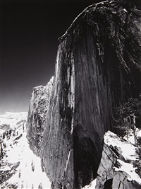 monolith, the face of half dome, yosemite national park by ansel adams