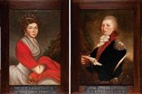 malzonkowie teodor otto i julia z lakinskich trampczynscy (pair) by jozef faworski