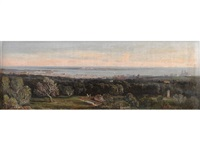 panoroma of cannes by a.d. fioupou