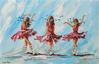 three dancers by lorna millar