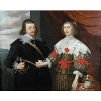 portrait of a husband and wife (members of the selby-lowndes family?) by gilbert jackson