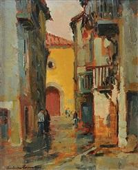 conversation dans une ruelle by paul emile lecomte
