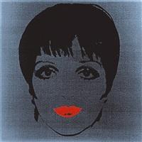 portrait de liza minnelli sur fond noir by andy warhol
