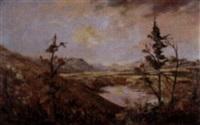 untitled - autumn reflections by augustus fredrick kenderdine
