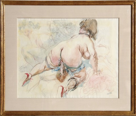 untitled - nude by george grosz