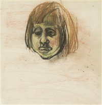 head of a girl by joan kathleen harding eardley