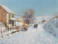 winter sunlight by edward willis redfield