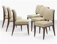 drouant dining chairs (set of 6) by émile jacques ruhlmann