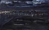 night view of manila bay by federico aguilar alcuaz