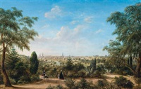 view of melbourne looking across the yarra from the botanical gardens by henry c. gritten