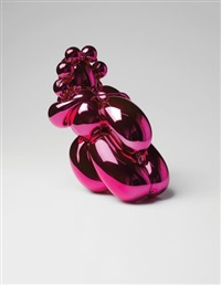 dom pérignon balloon venus (magenta)(in 2 parts) by jeff koons