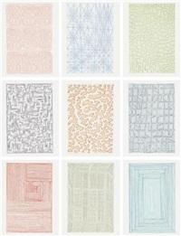 nine prints portfolio (set of 9) by james siena