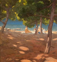 at the beach by nicholaos othoneos