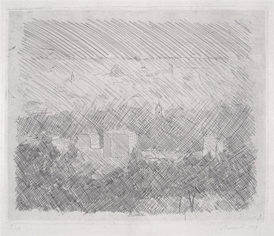 paesaggio pianura di bologna by giorgio morandi