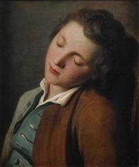 jeune garçon endormi by pietro antonio rotari