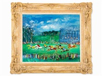 aux courses by jean dufy